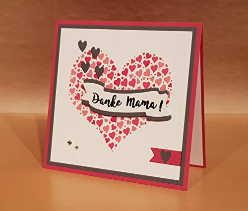 Glückwunschkarte, Valentinstagskarte, Hochzeitstagskarte, Karte zum Muttertag, Hochzeitstag, personalisiert, eigener, individueller Text, handgemacht, Handarbeit