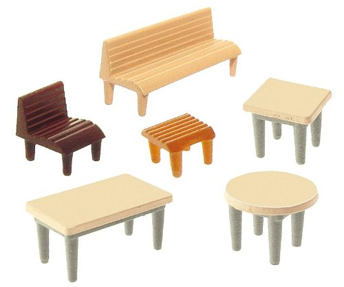 faller 272440 - tafels, stoelen, banken