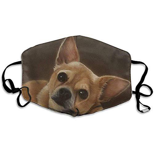 Realistische Chihuahua Ölgemälde Haustier Bedruckte Maske Neutrale Maske Polyester Staubdichte atmungsaktive Maske Gesichtsmaske