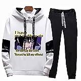 ZOSUO Anime Naruto Conjunto De Sudadera con Capucha Y Pantalones De Chándal Unisex 2 Piezas Set Hoodie Suéter Jogger Pantalones Traje Casual Chándal Cosplay Uchiha Sasuke,XL