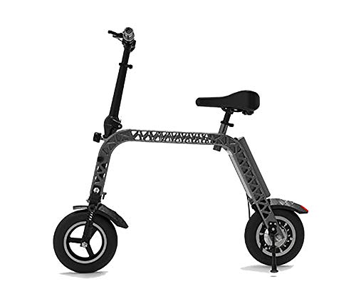 TX Bicicleta eléctrica Plegable Tamaño Mini con Asiento para niños, medidor de...