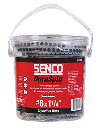 Senco 06A125P DuraSpin Number 6 by 1-1/4-Inch Drywall to Wood Collated Screw (1,000 per Box)