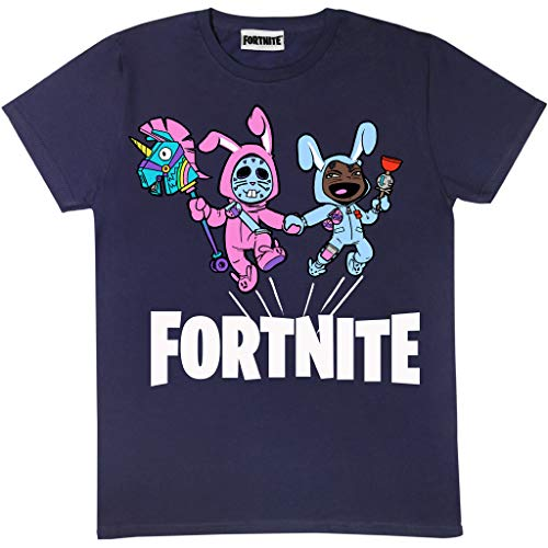 Fortnite Bunny Trouble Boys T-Shirt Navy 14-15 Years | PS4 PS5 Xbox PC Gamer Gifts, Tween Teen School Boys Gaming Top, Childrens Clothes, Kids Birthday Gift Idea