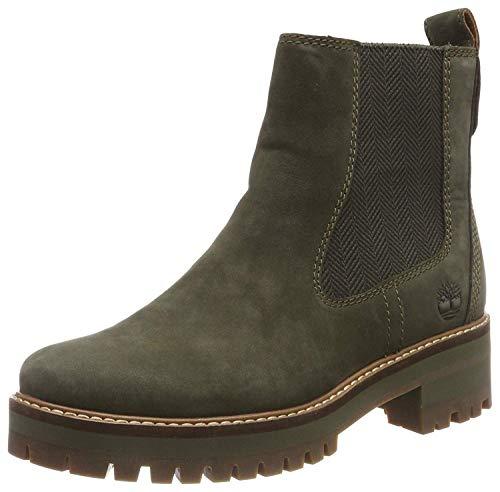 Timberland Damen Courmayeur Valley Chelsea Boots, Grün (Green), 38 EU