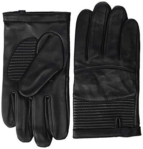 Armani Exchange AX Herren Leather Gloves Winter-Handschuhe, schwarz, Small/Medium