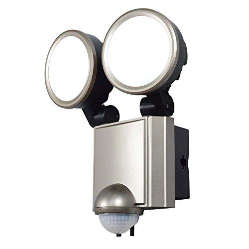 ELPA LEDセンサーライト 2灯 ESL-SS1002AC ESL-SS1002AC 14.5×18×15cm 白色