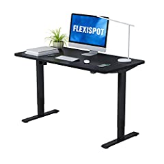"""Spacious Work Area:The large work surface measuring 48"""" x 30"""" is environmentally sourced and provides ample space for a variety of monitor or laptop setups, plus room for ongoing projects and office supplies. Electric Height Adjustable Lift System:Th..."""