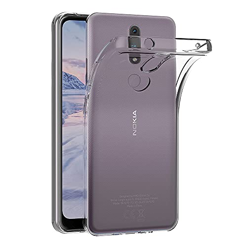 AICEK Funda Compatible Nokia 2.4, Transparente Silicona Fundas para Nokia 2.4 Carcasa Silicona Funda Case (6,5 Pulgadas)