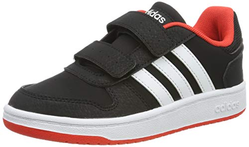 Adidas Hoops 2.0 CMF C, Zapatos de Baloncesto Unisex Niños, Multicolor (Core Black/FTWR White/Hi/Res Red S18 B75960), 35 EU