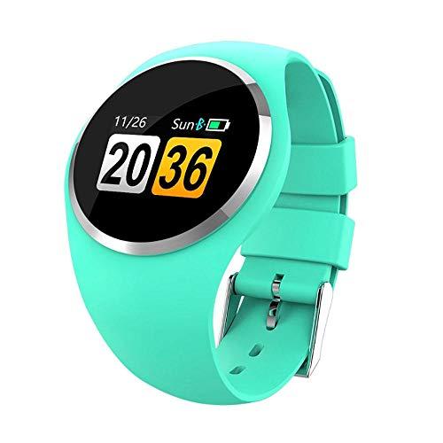 Pulsera inteligente reloj inteligente Bluetooth señora reloj inteligente moda mujeres ritmo cardíaco monitor fitness Tracker reloj inteligente soporte para Android iOS-verde