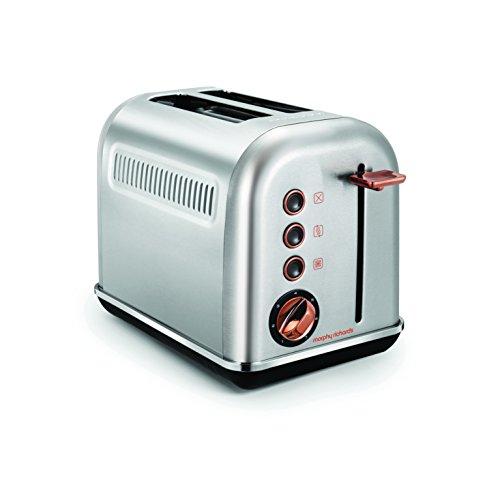 Morphy Richards Toaster Rosegold 222017 silbern, Metall