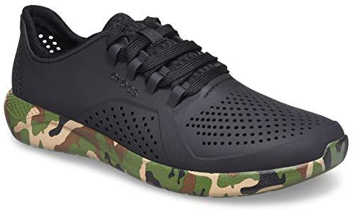 Crocs Literide Pacer - Zapatillas cómodas para Hombre LiteRide Pacer para Hombre, Zapatillas cómodas para Hombre, Black Camo, 12