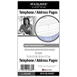 AT-A-GLANCE Day Runner Telephone and Address Pages, Refill, Loose-Leaf, Undated, for Planner, 3-3/4' x 6-3/4', Size 3, 30 Sheets/Pack (013-230)