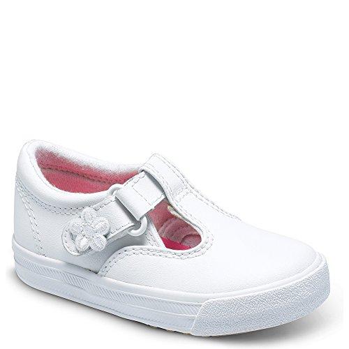 Keds girls Daphne T-Strap Sneaker , White, 4 M US Toddler