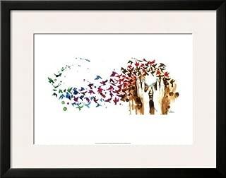 Birds, Birds, Birds Framed Art Poster Print by Lora Zombie, 28x22
