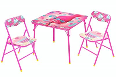 Universal DreamWorks Trolls Folding Table And Chair Set