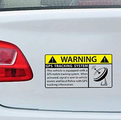 13cm x 6.5cm Car Styling MINI GPS Anti Robo Advertencia de seguridad...
