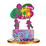 5PC BARNEY DINOSAUR CUPCAKE CAKE TOPPER TOPPERS FOR BIRTHDAY PARTY SUPPLY THEME DECORATIONS