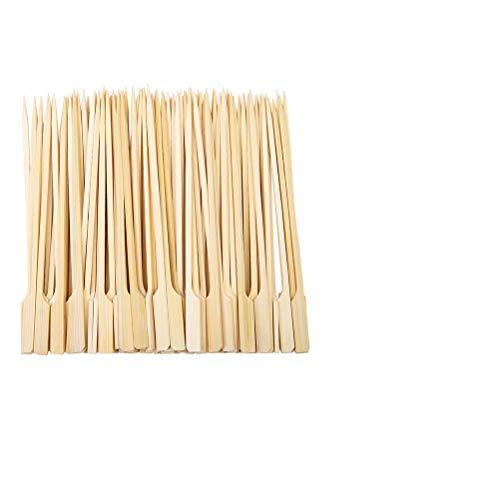 Holzspiesse/Fingerfood Spiesse (100 Stück) 25 cm, Naturholzspieße aus Bambus, für Grillgut, Pfanne, Fingerfood und Antipasti, stabil, gut zum Greifen durch breiteres
