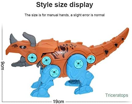 4pcs//Sets Dinosaur Kids Toys Early Educational DIY Screw Nut Assembly Baby Blocks Toys with Assemble Screw Driver Nut Toys for Children Box