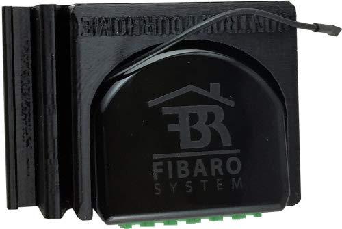 Fibaro Relais Halterung für die DIN Hutschiene Farbe Schwarz