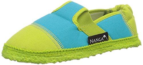 Nanga Kinder - Unisex Kinder-Hausschuhe Klette 06 Limette 24