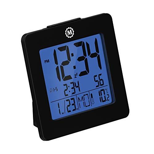 Marathon CL030050BK Digital Alarm Clock with Day, Date, Temperature...