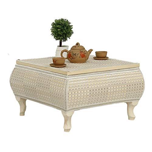 Mesa de la cama de la bahía de la ventana de la mesa de café de la mesa baja del hogar simple de bambú pequeña mesa de té de madera maciza mesa de cama balcón tatami mesa de café 41*41*30CM b