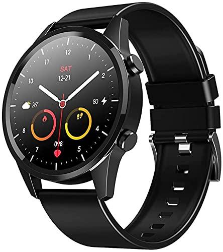 ZXCVBNN Smart Watch, Pantalla Redonda Completa de 1,28 Pulgadas TFT, Interfaz de Usuario Personalizado, Multi-dial, Llamada Bluetooth, múltiples Modos Deportivos, IP67 Impermeable (Color: Rojo)