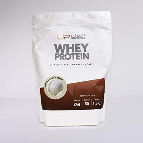U.P. Vanilla Whey Protein with All Essential Amino Acids to Hit Your Fitness Goals at Any Time of Day (1.5 KG)