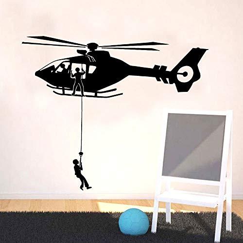 Tianpengyuanshuai Exquisite helikopter muur sticker vinyl verwijderbare kinderen kamer natuurlijke decoratie muur sticker decoratie jongen