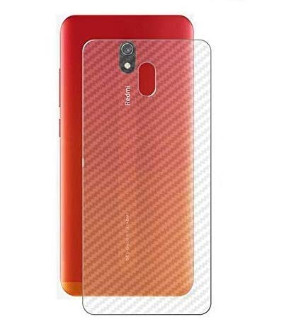 S-Softline Ultra Thin Slim Fit 3M Clear 3D Carbon Fiber Back Skin Rear Screen Guard Protector Sticker Protective for Redmi 8A (Transparent)