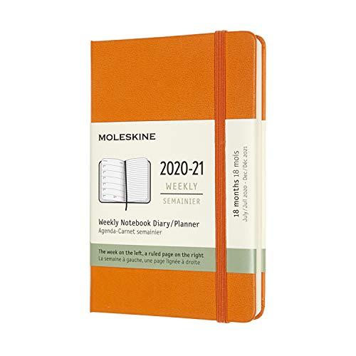 モレスキン 手帳 2020年7月始まり 18カ月 ウィークリーダイアリー ハードカバー ポケットサイズ カドミウムオレンジ DHN118WN2Y21