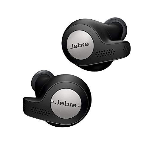 Jabra Elite Active 65t - True Wireless In-ear Sport Kopfhörer mit Passive Noise Cancellation - Mit Fitnesstracking über Bewegungssensoren - titan schwarz