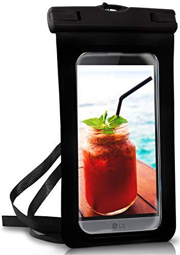 ONEFLOW® wasserdichte Handy-Hülle für alle LG Modelle | Touch- & Kamera-Fenster + Armband und Schlaufe zum Umhängen, Schwarz (Ocean-Black)