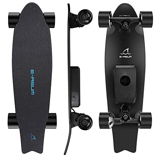 E-ASUM AS01 Electric Skateboard, 350W Hub-Motor Skateboards, 13MPH TOP Speed,10 Miles Range, 7...