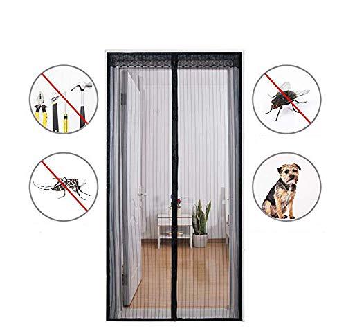 DADAO Insektenschutz TüR Ohne Bohren,Fliegennetz Vorhang FüR BalkontüR Und TerrasentüR, TüRen Zum Schutz Vor Insekten Wie Fliegen Und MüCken,Black,95x210cm(37x83inch)