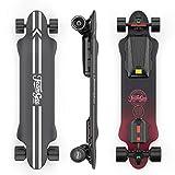 Teamgee H20 Skateboard électrique de 99,1 cm avec télécommande sans fil Longboards Skateboards pour adolescents et adultes, vitesse maximale 26 PMH, moyeu de 1080W, portée de 30 km