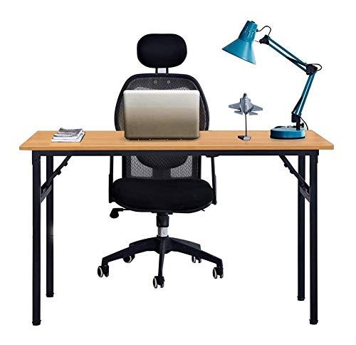 String Lights Klapptisch Büro-Studien-Schreibtisch-Computer Laptop-Tisch Workstation Essen Gaming Table Kein erforderliches installieren 120x60x75cm Teak und Schwarz