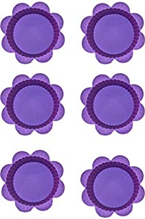 Other Set Of 6-Piece Silicon Cup Cake Mould, Purple