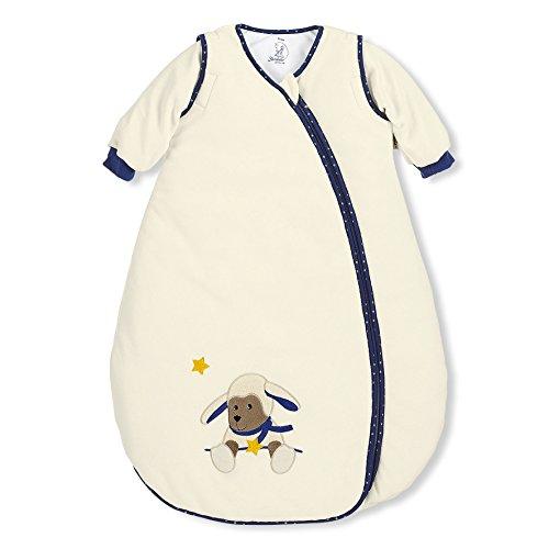 Sterntaler Schlafsack für Kleinkinder, Abnehmbare Ärmel, Wärmeregulierung, Reißverschluss, Größe: 110, Stanley, Crème