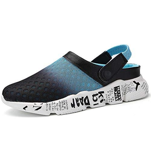 Hombre Mujeres Zapatillas,Antideslizante Zuecos Sandalias Unisex Zapatillas de Playa Deportes Respirable Zapatos Chanclas de Verano Tamaño EU 36-47