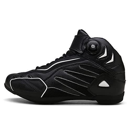 RTY Zapatos de Bicicleta de montaña, Ciclos sin Hacer Clic,Negro,43