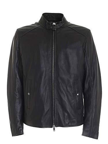 Dondup Luxury Fashion Herren UJ741PL0238UXXXDU999 Schwarz Leder Jacke | Herbst Winter 20