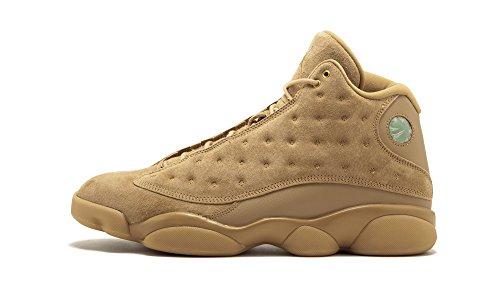 Nike Herren AIR Jordan Retro XIII WEIZEN Schuhe in braunem Leder 414571-705