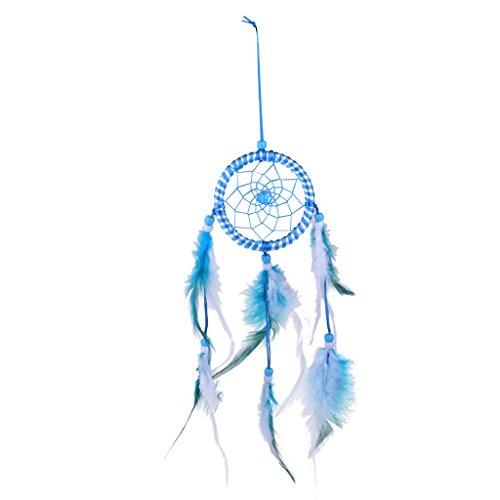 Dream Catcher Fait Main Plumes Perles Turquoise Attrape-rêve Ornement Murale Pendentif