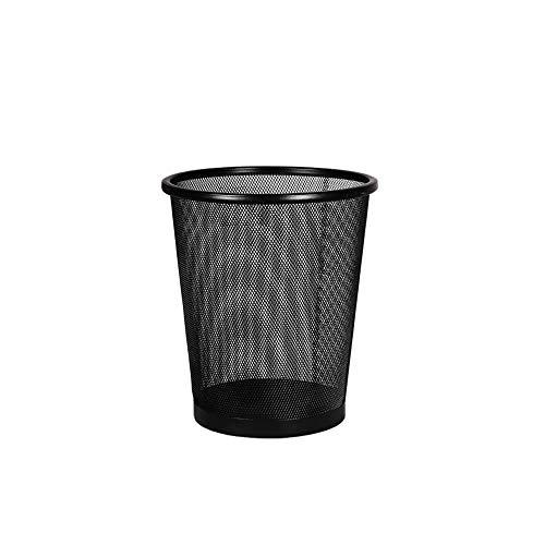 1st Choice – Feinster schwarzer Papierkorb aus Metall für kleines Büro, Wohnzimmer, Schlafzimmer, 1 Packung
