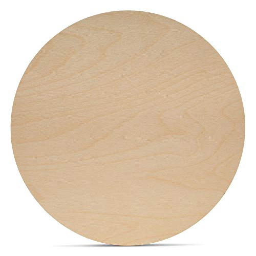 Wood Plywood Circles 20 inch, 1/8 Inch Thick, Round Wood Cutouts, Pack of 1 Baltic Birch Unfinished Wood Plywood Circles for Crafts, by Woodpeckers