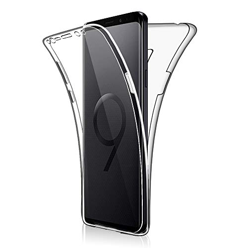 SDTEK Custodia per Samsung Galaxy S9+ Plus Protezione a 360° Custodia Full Body Cover Case Bumper Caso Trasparente Clear Silicone Gel per Samsung Galaxy S9+ Plus