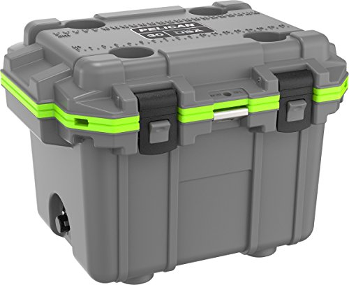 Pelican 30Q-1-DKGRYEGRN Elite 30 Quart Cooler (Dark Grey/Green)